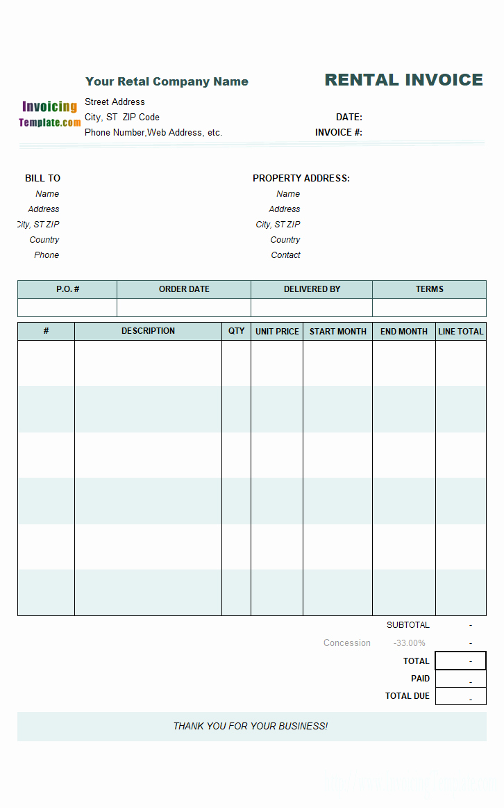 Rent Invoice Template Word Awesome Word Rent Invoice Template