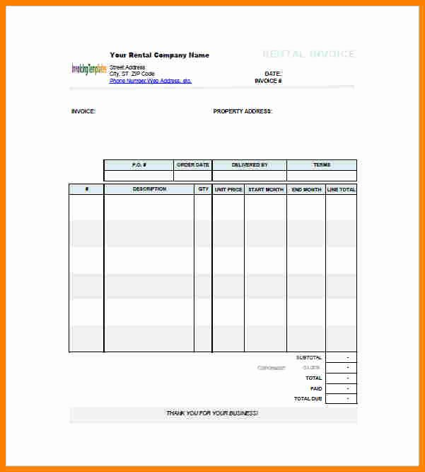 Rent Invoice Template Word Best Of 12 Rent Bill format In Word