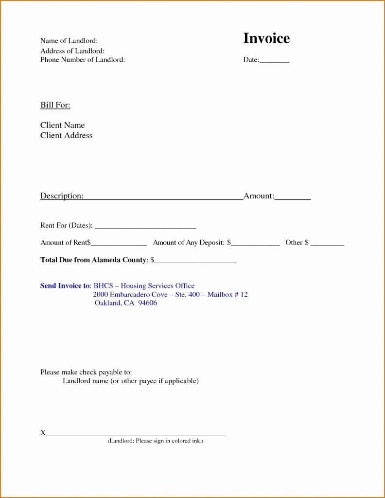 Rent Invoice Template Word Best Of Rent Invoice Template Free Deposit Receipt Rental Word