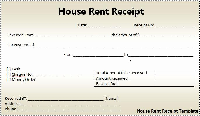 Rent Invoice Template Word Lovely 16 House Rent Receipt format