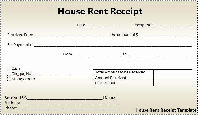 Rent Payment Receipt Template Best Of Rent Receipts