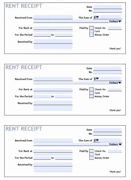 Rent Payment Receipt Template Elegant 6 Rent Receipt Templates