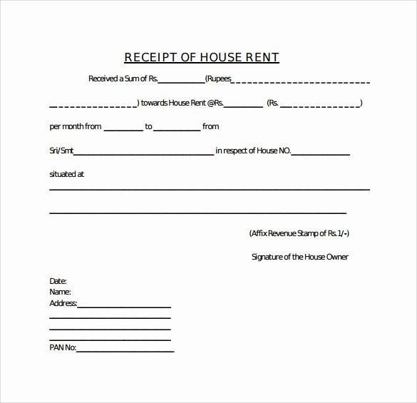 Rent Payment Receipt Template Elegant Free 21 Rent Receipt Templates In Google Docs