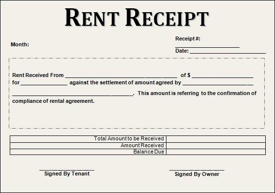 Rent Payment Receipt Template Fresh Free 21 Rent Receipt Templates In Google Docs