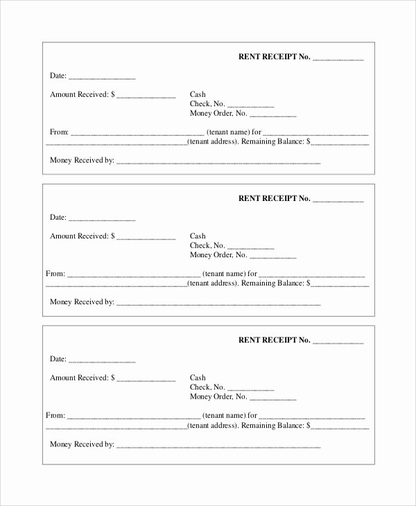 Rent Payment Receipt Template Fresh Sample Payment Receipt 7 Documents In Pdf