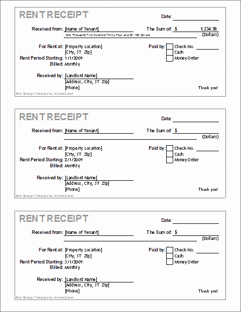 Rent Payment Receipt Template Lovely Free Receipt Template