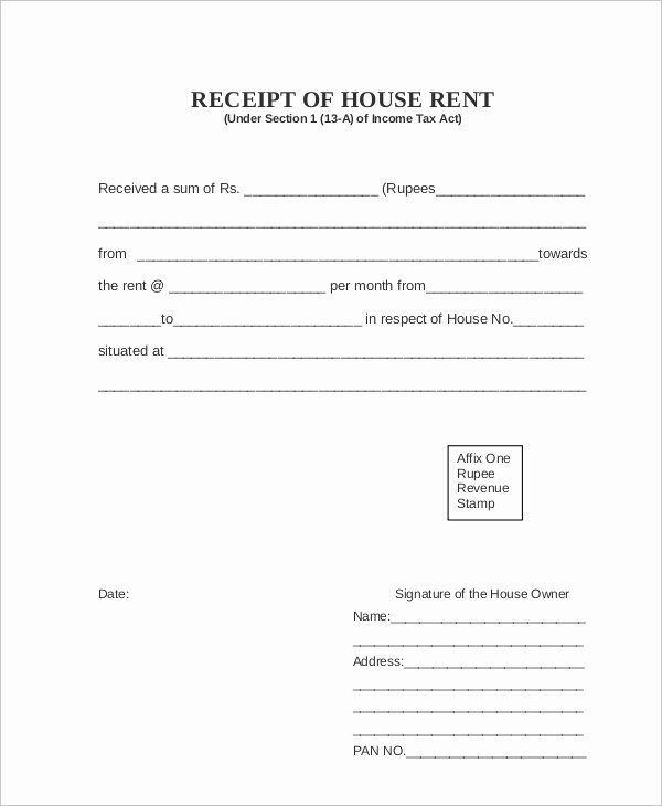 Rent Payment Receipt Template Luxury Sample Rent Receipt 7 Documents In Pdf
