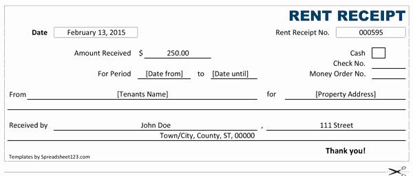 Rent Receipt Template Pdf Awesome 14 Rent Receipt Templates Excel Pdf formats