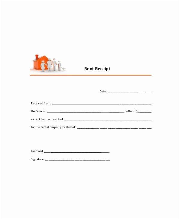 Rent Receipt Template Pdf Beautiful Free Rental Receipt Template Word – Rent Receipt