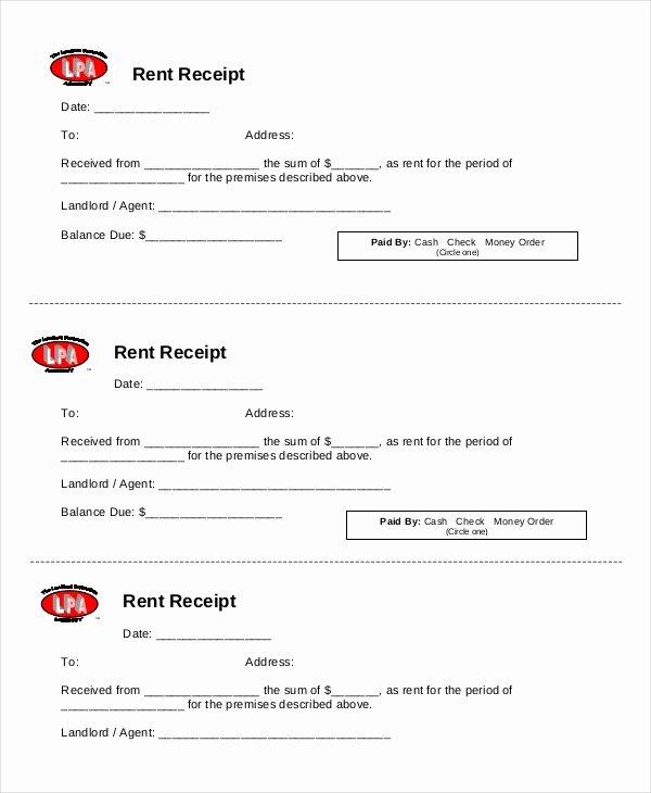 Rent Receipt Template Pdf Beautiful Rent Receipt Template 20 Free Word Pdf Documents