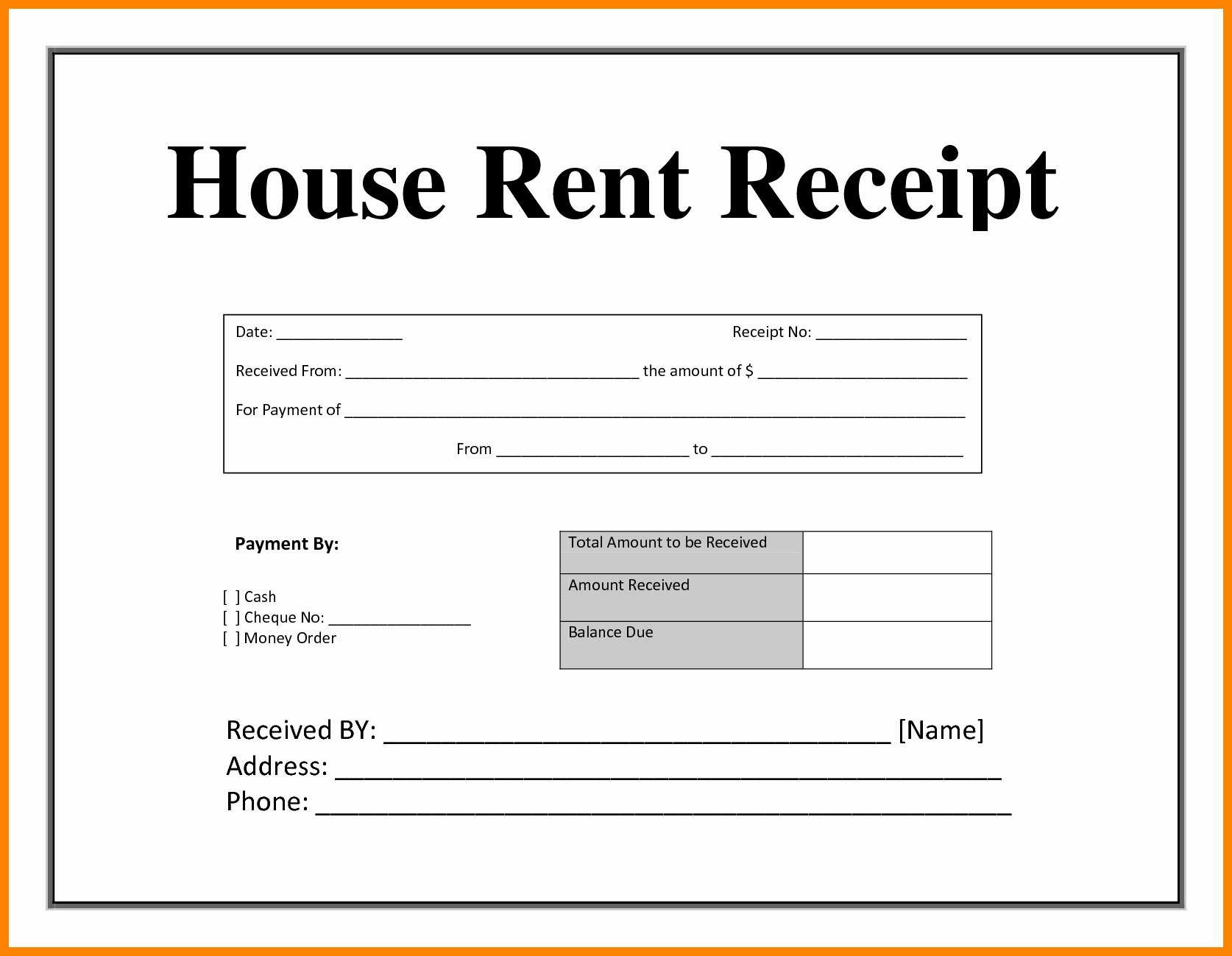 Rent Receipt Template Pdf Beautiful Sample House Rent Agreement