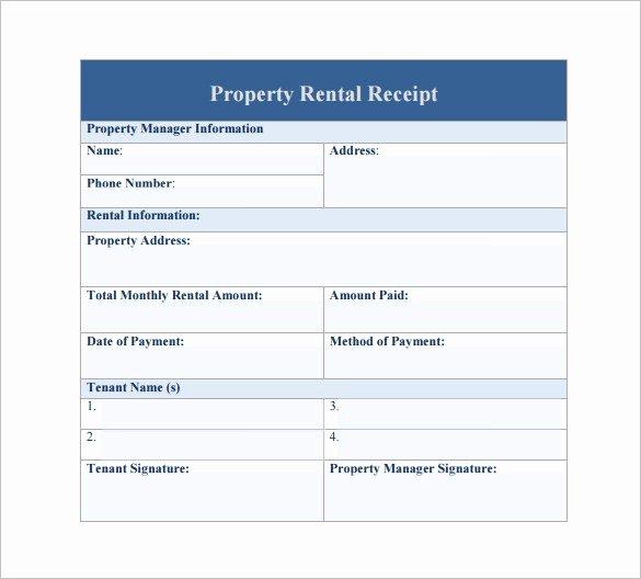 Rent Receipt Template Pdf Elegant Rent Receipt Sample Sample Rent Receipts Printable Rent