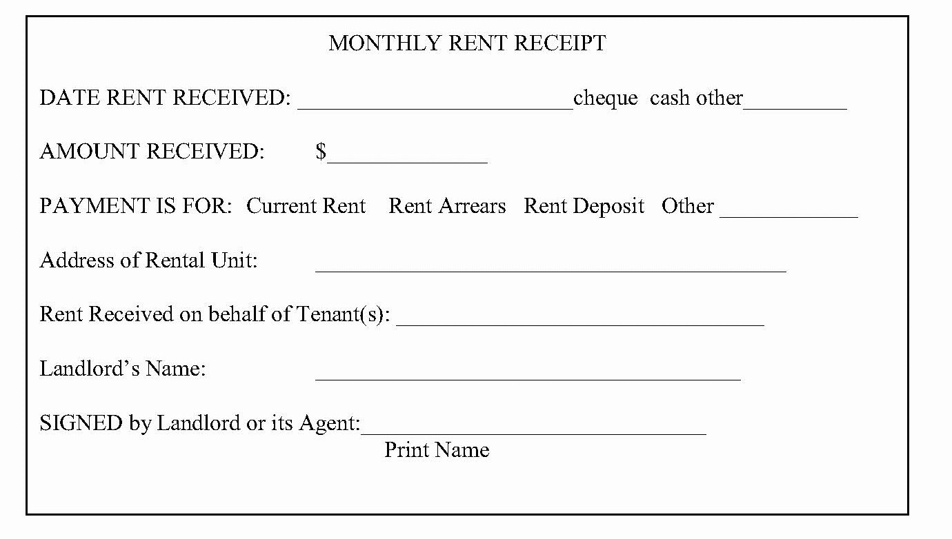 Rent Receipt Template Pdf Luxury Easy to Use House or Property Rent Receipt Samples to