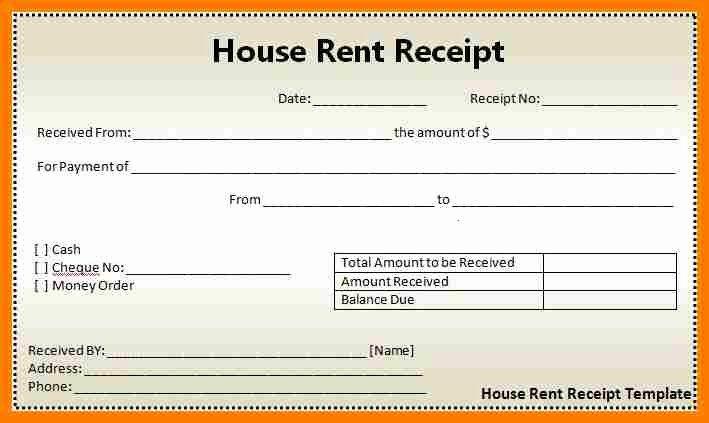 Rent Receipt Template Pdf Luxury Rent Receipt Pdf