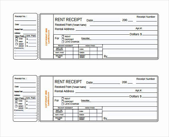 Rent Receipts Template Word Beautiful Rent Receipt Template 13 Download Free Documents In Pdf