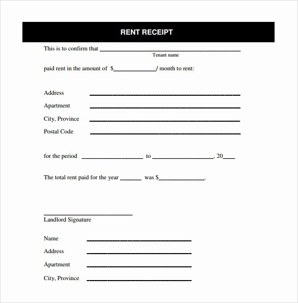 Rent Receipts Template Word Elegant Free 21 Rent Receipt Templates In Google Docs