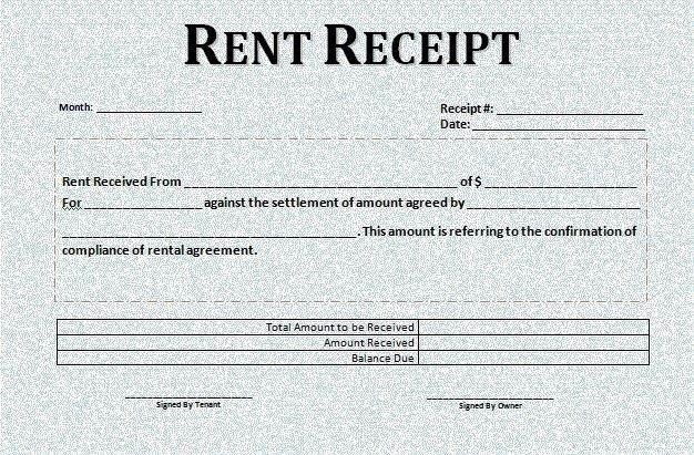 Rent Receipts Template Word Elegant Rental Receipt Template Word Microsoft Excel Templates