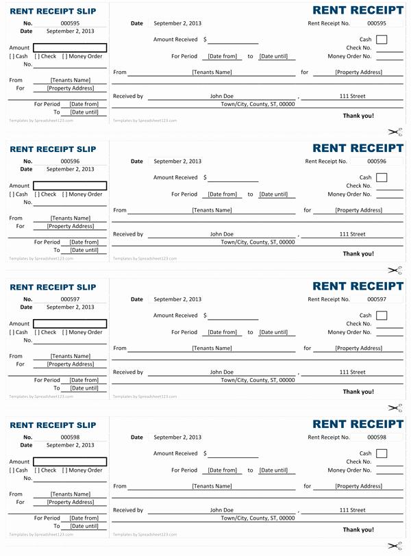 Rent Receipts Template Word Luxury Rent Receipt