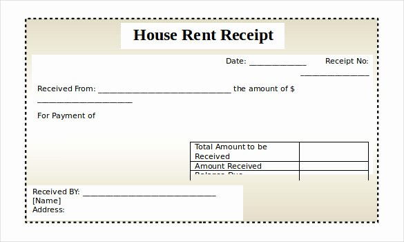 Rent Receipts Template Word New Rental Receipt Template – 30 Free Word Excel Pdf
