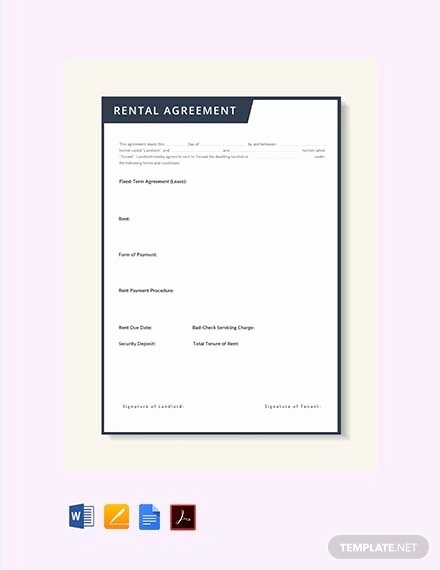 Rent to Own Template Awesome Rent to Own Contract Template 9 Word Pdf Documents