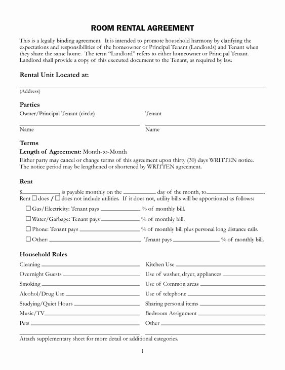 Rent to Own Template Beautiful Free Printable Rental Lease Agreement form Template
