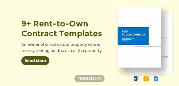 Rent to Own Template Lovely Rent to Own Contract Template 9 Word Pdf Documents