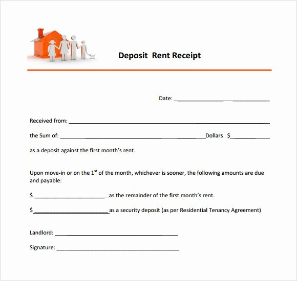 Rental Deposit Receipt Template Beautiful 11 Printable Receipt Templates – Free Samples Examples