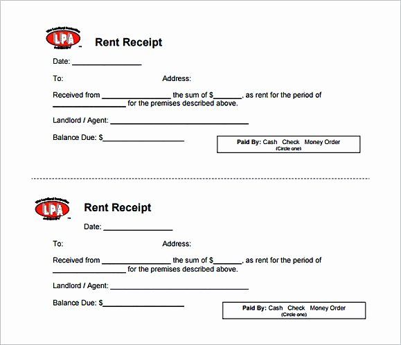 Rental Deposit Receipt Template Lovely Rent Invoice Template