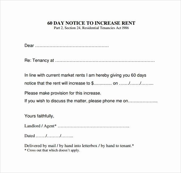 Rental Increase Letter Template Elegant Rent Increase Letter Template Icebergcoworking