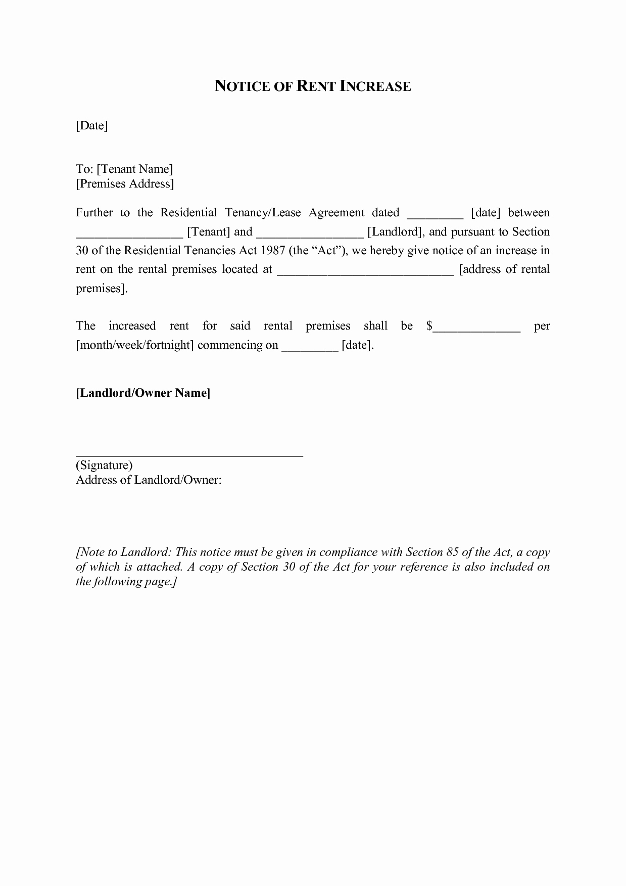 Rental Increase Letter Template Fresh Best S Of Rent Increase Letter to Tenant In