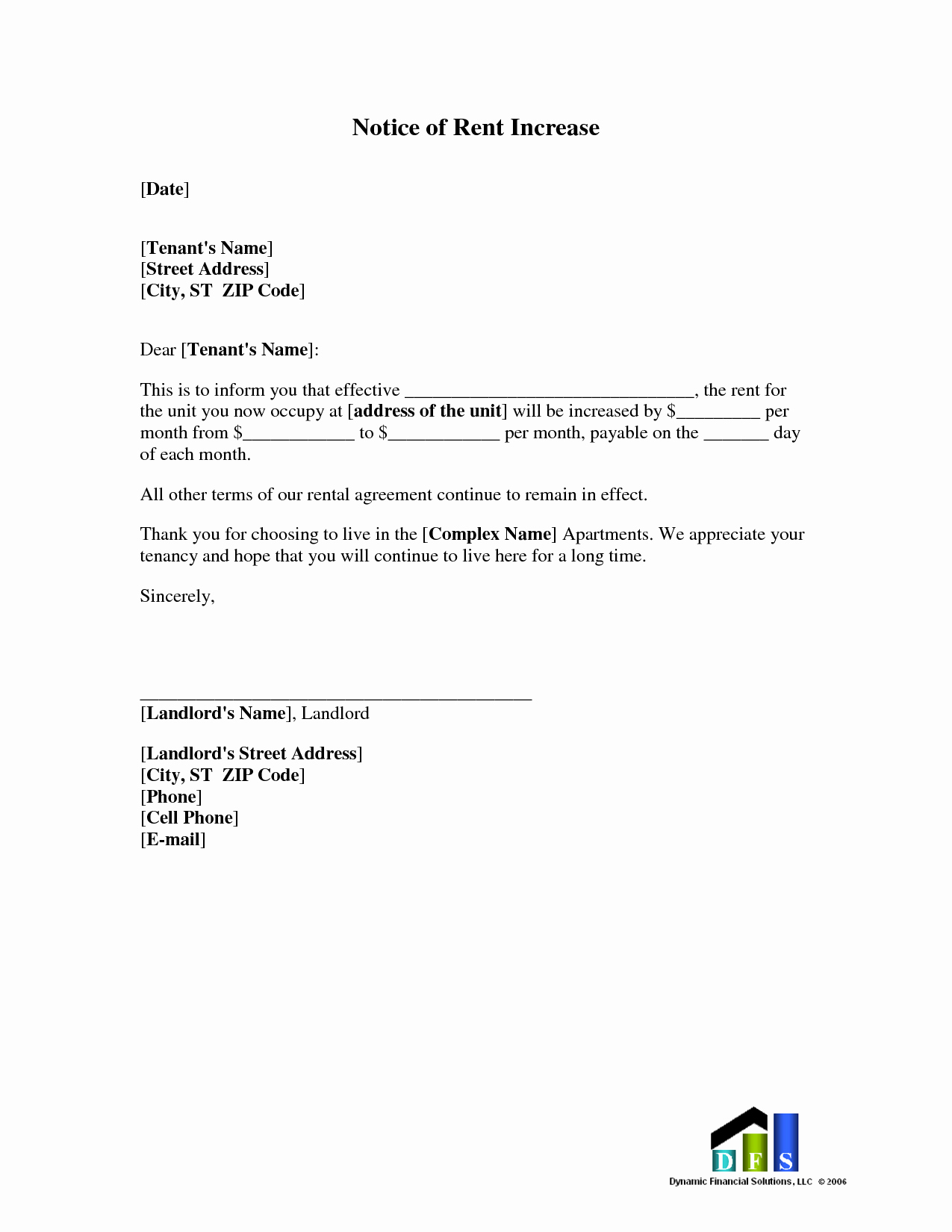Rental Increase Letter Template New Best S Of Rent Increase Letter to Tenant In