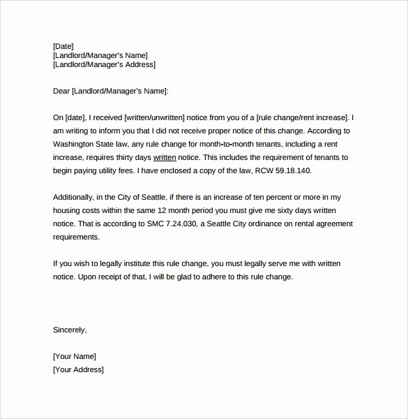 Rental Increase Letter Template New Rent Increase Letter 8 Download Free Documents In Pdf Word