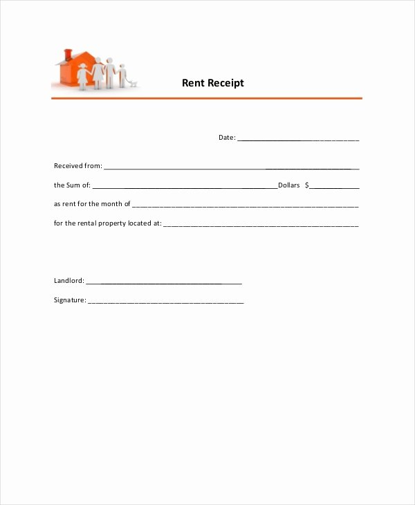 Rental Receipt Template Pdf Beautiful Rent Receipt Template 20 Free Word Pdf Documents