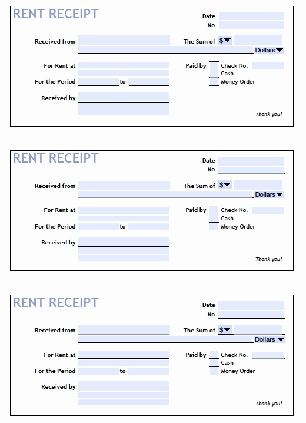 Rental Receipt Template Pdf Beautiful Rent Receipt Template Excel