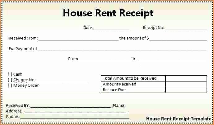 Rental Receipt Template Pdf Best Of 40 Payment Receipt Templates Doc Pdf – form