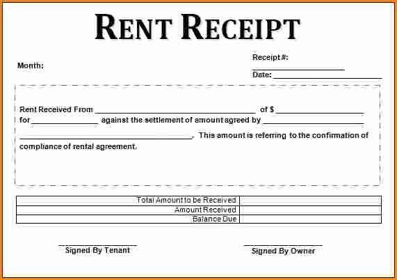 Rental Receipt Template Pdf Lovely 9 Printable Rent Receipt Pdf