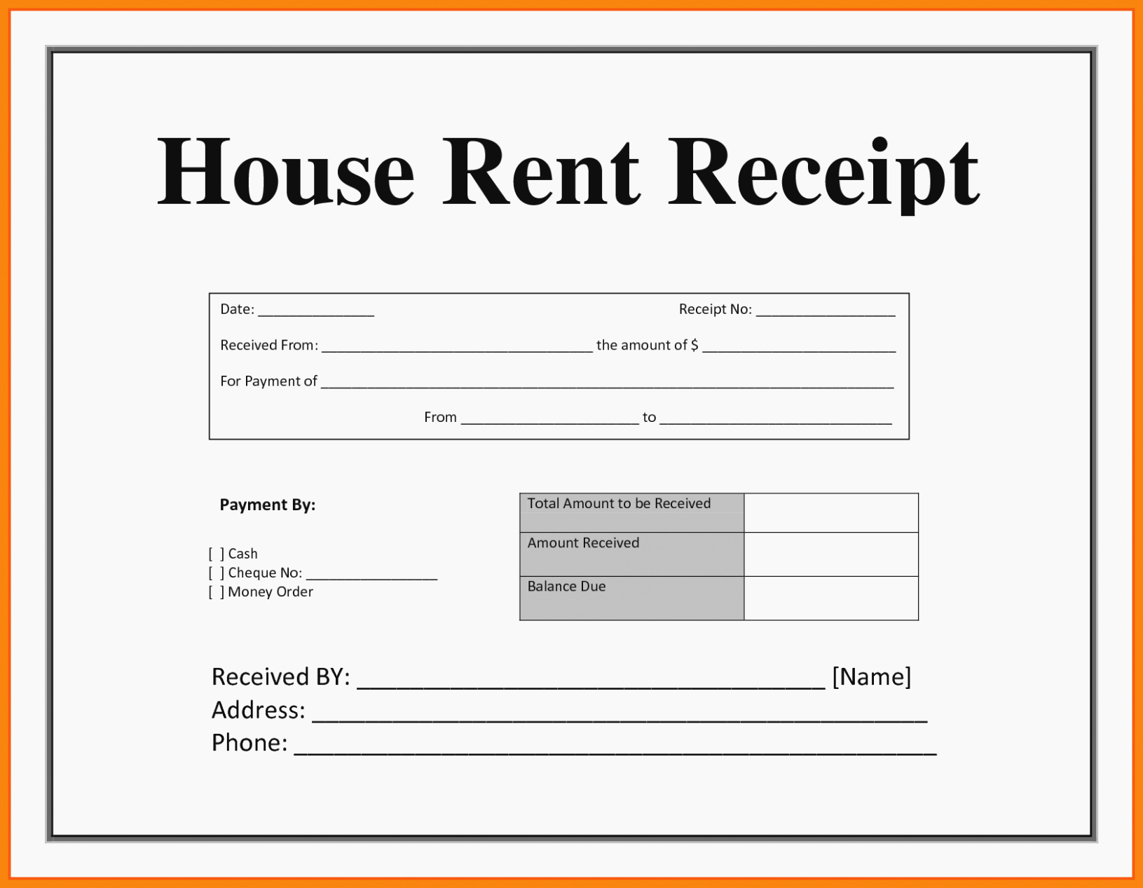Rental Receipt Template Pdf Lovely Everything You Need to
