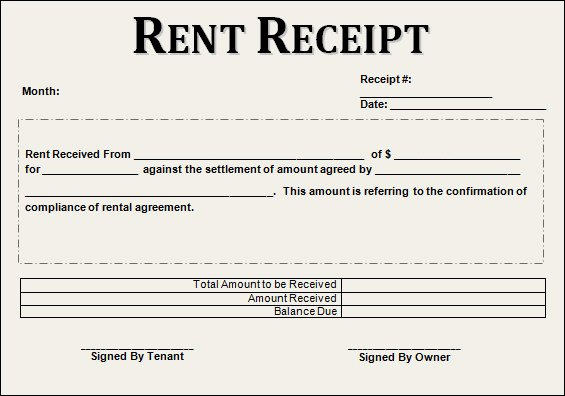 Rental Receipt Template Word Beautiful Free 21 Rent Receipt Templates In Google Docs