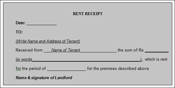 Rental Receipt Template Word Best Of 12 House Rent Receipt formats