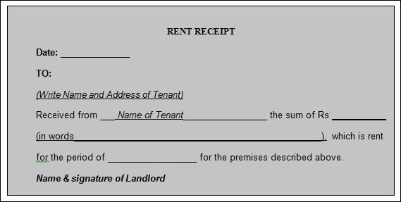 Rental Receipt Template Word Elegant Free 21 Rent Receipt Templates In Google Docs