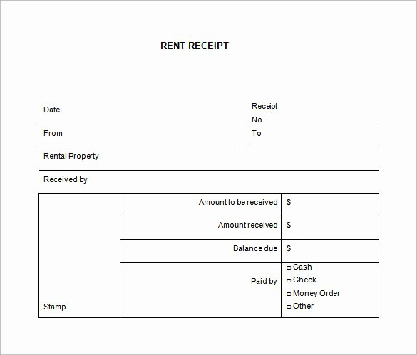 Rental Receipt Template Word Unique 35 Rental Receipt Templates Doc Pdf Excel