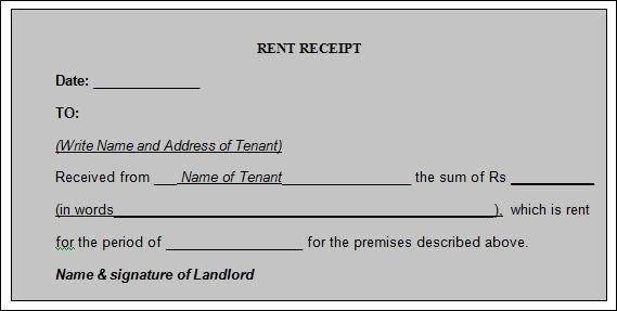 Rental Receipts Template Word Beautiful 12 House Rent Receipt formats