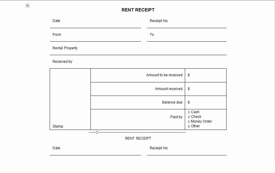 Rental Receipts Template Word Luxury Rental Receipt form Template Excel Tmp