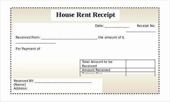 Rental Receipts Template Word Luxury Rental Receipt Template – 30 Free Word Excel Pdf
