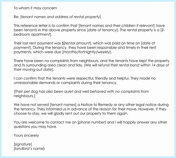 Rental Reference Letter Template Beautiful Rental Reference Letter 9 Samples formats for