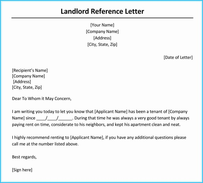 Rental Reference Letter Template Inspirational Rental Reference Letter 9 Sample Letters formats and