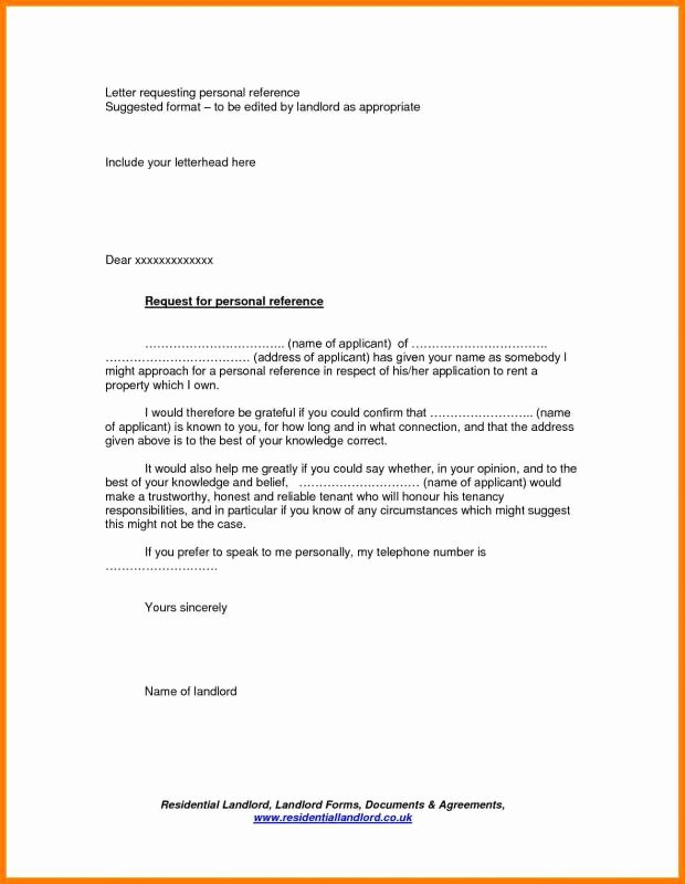 Rental Reference Letter Template New Letters to Landlord