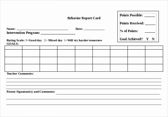 Report Card Template Pdf Awesome Report Card Template
