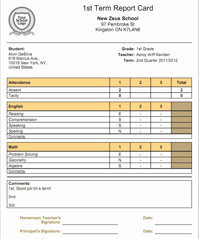 Report Card Template Pdf Best Of What is the Relationship Between Gradebooks and Report