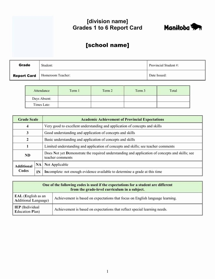 Report Card Template Pdf New 20 Report Card Template Free Download